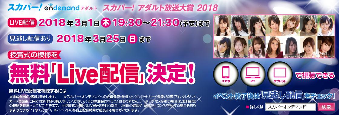 『スカパー!アダルト放送大賞 2018』